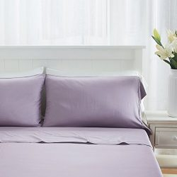 Luxuriously Soft and Comfortable 4 Piece Tencel Sheet Collection, Made From 100% Organic Eucalyp ...