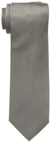 Vince Camuto Men's Isabella Solid 100% Silk Tie, Taupe, One Size