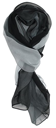 Ted and Jack – Silk Ombre Lightweight Accent Scarf in Grey and Black
