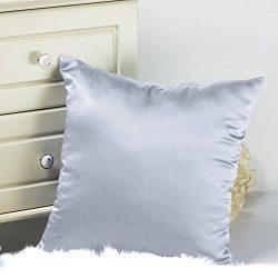 Tim & Tina Silk Satin Square Decorative Throw Pillow Case Cushion Cover (20″ x 20̸ ...