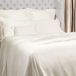 Bedding Deals by Linenwalas Pure Bamboo Soft & Cozy Duvet Cover 3-Piece Set – White &# ...