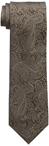 Countess Mara Men's Augustin Paisley 100% Silk Tie , Brown, One Size
