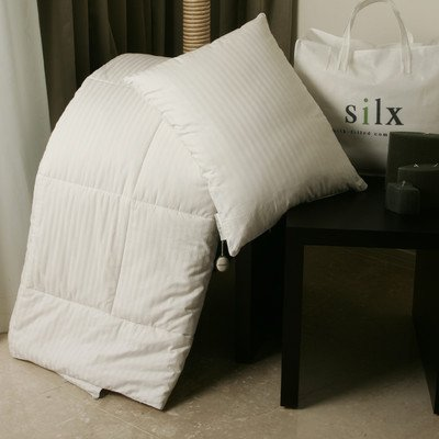 Silx Silk Filled Comforter with Cotton Cover, Twin