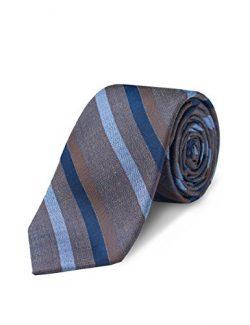Origin Ties Mens Fashion Silk 2.5″ Tie Monochromatic Striped Skinny Tie