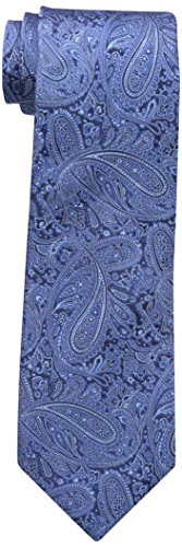 Countess Mara Men's Augustin Paisley 100% Silk Tie , Blue, One Size