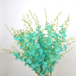 Coobl Artificial silk flower Senior decoration Butterfly orchid bouquet flower wedding bouquet b ...
