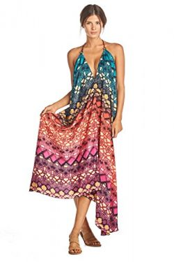 Iris Impressions MAIA Silk-Blend Maxi Dress – Convertible, Fits Sizes 0 To 22 – Inst ...