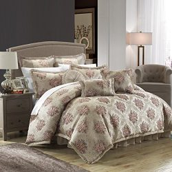 Chic Home 9 Piece Le Mans Decorator Upholstery Quality Jacquard Motif Fabric Bedroom Comforter S ...