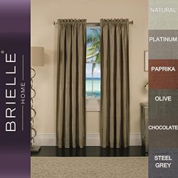 Brielle 100% Dupioni Real Silk Lined, Insulated, Room Darkening and Energy Saving Rod Pocket Pan ...