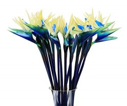 Gecter 6Pcs 31″ Large Artificial Elegant Bird of Paradise – Tropical Flower Bouquet  ...
