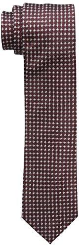 Dockers Men's Filbert Street Neat 100% Silk Tie, Wine, One Size