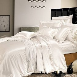 THXSILK Silk Duvet Cover, Silk Comforter Covers, Luxury Bedding – Ultra Soft, Machine Wash ...