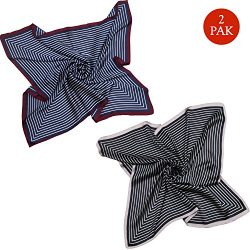 SOJOS Silk Scarf Women's Large Square Satin Neck Scarf Hairscarf 27.5 x 27.5 inches SC303  ...