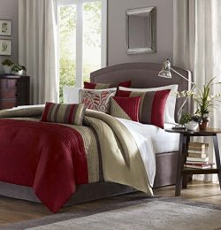 Madison Park Amherst 7 Piece Comforter Set – Cal King – Red