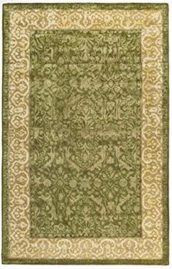 Safavieh Silk Road Collection SKR213A Handmade Spruce and Ivory New Zealand Wool Oval Area Rug ( ...