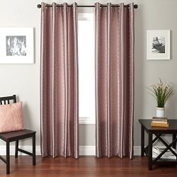 Softline Home Fashions Fantasy Series Faux Silk Window Panel/Treatment/Drape/Curtain, Amethyst/B ...