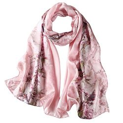 Mulberry silk Scarf / National beauty (Apricot nectar)
