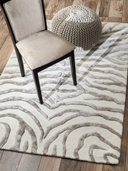 nuLOOM Hand Tufted Plush Zebra Area Rug