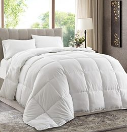 King Size 102″x90″ White Down Alternative Comforter Duvet Insert – Corner Tabs ...