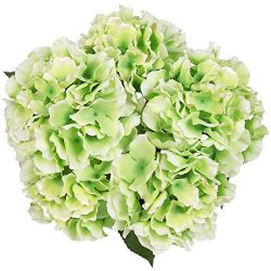 Luyue 5 Big Heads Artificial Silk Hydrangea Bouquet Fake Flowers Arrangement Home Wedding decor  ...