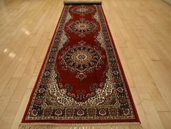 Silk Red Rugs Persian Rugs Traditional Silk Area Rug Long Hallway Runner 2×12 Long Narrow R ...
