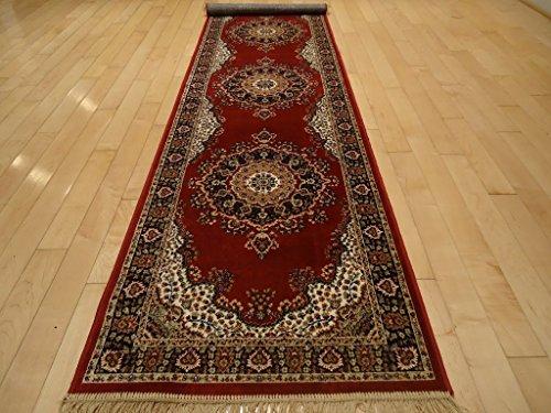 Silk Red Rugs Persian Rugs Traditional Silk Area Rug Long Hallway Runner 2×12 Long Narrow R ...
