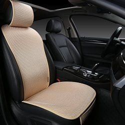 EDEALYN 1 piece Breathable Ultra-thin Ice silk Non-slip Car Seat Cushion Car Seat Cover Car inte ...