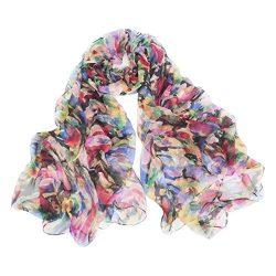 V&good Women's 1pcs 100% Luxury Silk Scarf (6#)