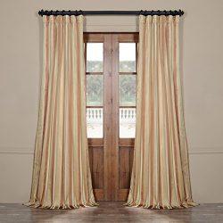Half Price Drapes Pts-SLK16-108 Luxury Faux Silk Stripe Curtain, 50 x 108″, Oakmere