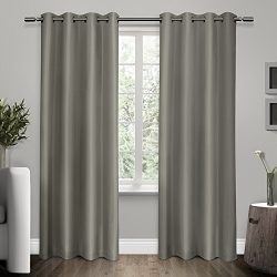 Exclusive Home Curtains Shantung Faux Silk Thermal Grommet Top Window Curtain Panel Pair, Viridi ...