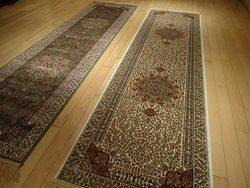 Silk Cream Rug Persian Tabriz Rugs Long 2×12 Hallway Runner Ivory Runners Rugs Floor Long C ...