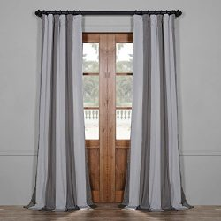 Half Price Drapes Pts-SLK001-84 Faux Silk Stripe Curtain, 50 x 84, Hartford