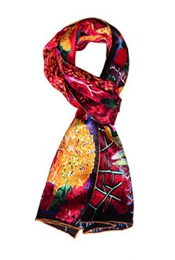 Salutto Women 100% Silk Scarves Monet Painted Scarf (25)