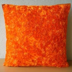 Luxury Orange Accent Pillows, Abstract Ribbon Textured Pillows Cover, Throw Pillow Covers 18&#82 ...