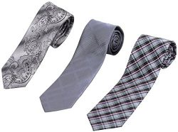 Set of 3 Elegant Neck Ties By Mens Collections – Multiple Sets to Chose From (#11)