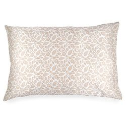 Spasilk 100% Silk Pillowcase Facial Beauty and Hair, Queen 20″x30″, Copper Paisley