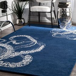 Handmade Octopus Tail Faux Silk/Wool Area Rug