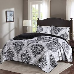 Comfort Spaces – Coco Mini Quilt Set – 2 Piece – Black and White – Print ...