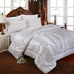 hellosy 100% Pure Long Mulberry Silk Filled Comforter Silk Comforter Silk Quilt Silk Duvet( 67&# ...