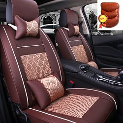 Super PDR 11Pcs Airbag Compatible 5 Seats full set Car Automobile Seat Cover PU Leather Ice Silk ...