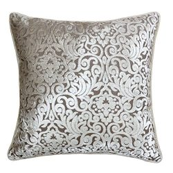 Homey Cozy Modern Velvet Throw Pillow Cover,Ivory White Luxury Elegant Floral Soft Fuzzy Cozy Wa ...
