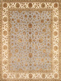 Pasargad Carpets 43357 Agra Collection Hand-Knotted Silk & Wool Area Rug, 8′ x 10&#824 ...