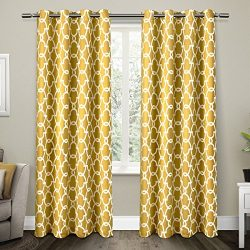 Exclusive Home Curtains Gates Sateen Blackout Thermal Grommet Top Window Curtain Panel Pair, Sun ...
