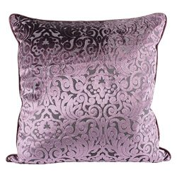 Homey Cozy Modern Velvet Throw Pillow Cover,Plum Purple Luxury Elegant Floral Soft Fuzzy Cozy Wa ...