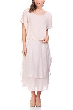 Laura Moretti – Midi linen and silk dress
