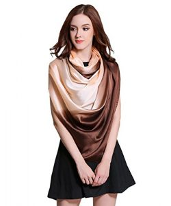K-ELeven Silk Scarf Gradient Colors Scarves Long Lightweight Sunscreen Shawls for Women SK073-F