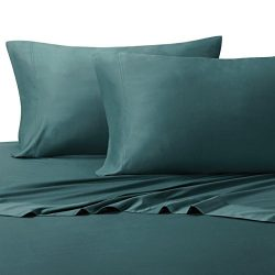 100% Bamboo Bed Sheet Set – California King, Solid Teal – Super Soft & Cool, Bam ...