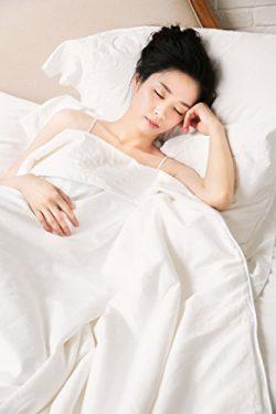 ZESTILK 100% Mulberry Silk Comforter Allergy Free White Thin (Queen 87″x90″)