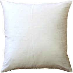 Pillow Decor – Sankara Ivory Silk Throw Pillow 18×18