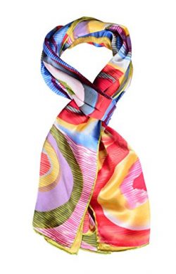 Salutto Women 100% Silk Scarves Monet Painted Scarf (21)